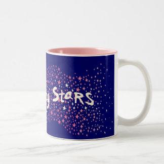 Estrellas de la suerte taza de café