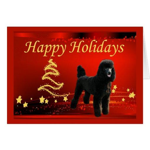 Estrellas de la tarjeta de Navidad del caniche