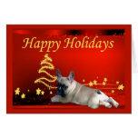 Estrellas de la tarjeta de Navidad del dogo francé
