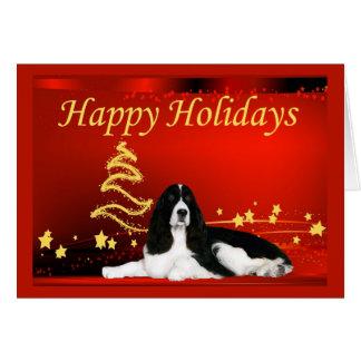 Estrellas de la tarjeta de Navidad del perro de ag