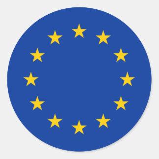 Estrellas de la unión europea pegatinas redondas