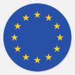 Estrellas de la unión europea pegatina redonda