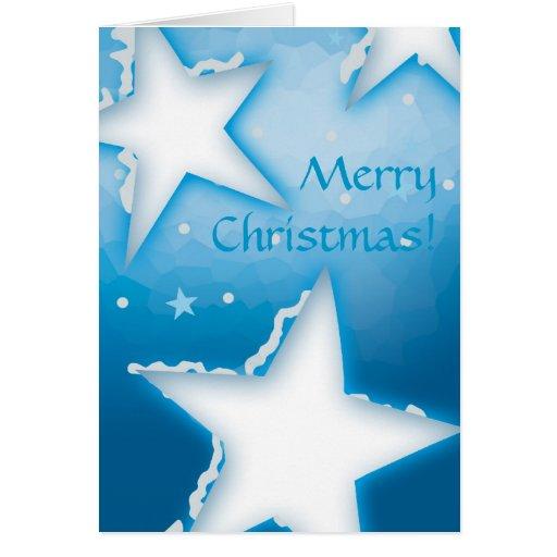 Estrellas de las Felices Navidad el | Nevado Tarjeta De Felicitación