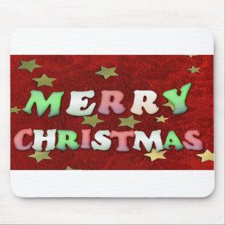 Estrellas de las Felices Navidad Alfombrillas De Raton
