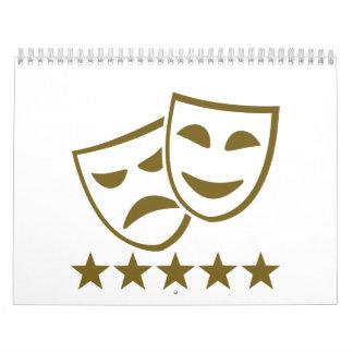 Estrellas de las máscaras calendario de pared