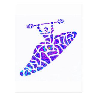 Estrellas de las nebulosas del kajak postales