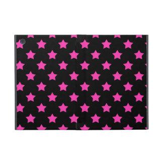 Estrellas de las rosas fuertes en modelo negro del iPad mini cobertura