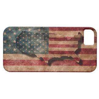 Estrellas de los E.E.U.U. del Grunge del vintage y iPhone 5 Case-Mate Carcasa