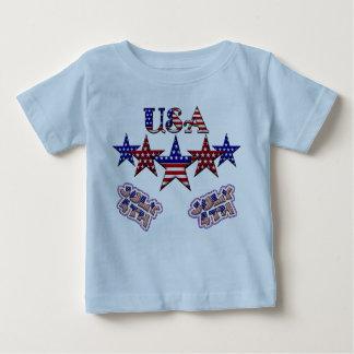 Estrellas de los E.E.U.U. Playera De Bebé