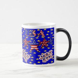 Estrellas de los E.E.U.U. Taza Mágica
