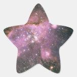 Estrellas de los jóvenes con los pegatinas rosados pegatina en forma de estrella