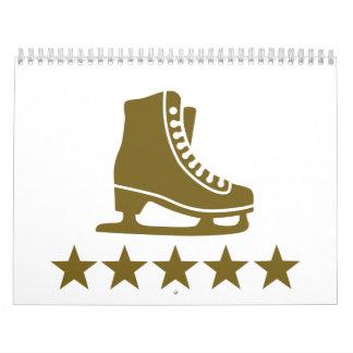 Estrellas de los patines calendarios de pared