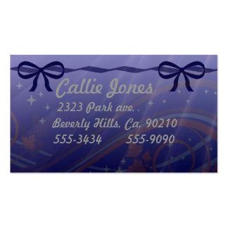 Estrellas de los remolinos y arcos del azul tarjetas personales