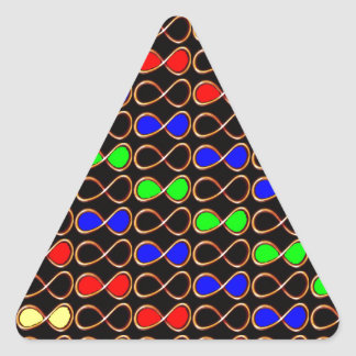Estrellas de los universos de los planetas de las pegatinas triangulo