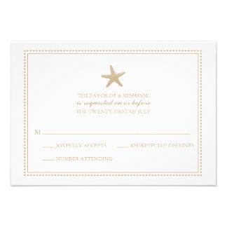 Estrellas de mar agraciadas el RSVP que se casa Invitacion Personal