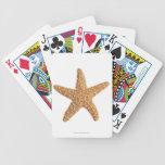 Estrellas de mar aisladas en blanco baraja de cartas bicycle