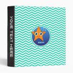 Estrellas de mar anaranjadas; Aguamarina Chevron