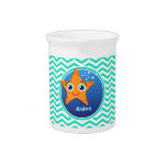 Estrellas de mar anaranjadas; Aguamarina Chevron Jarras