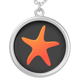 Estrellas de mar anaranjadas colgante redondo