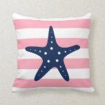 Estrellas de mar anchas azules y rosadas blancas d almohada