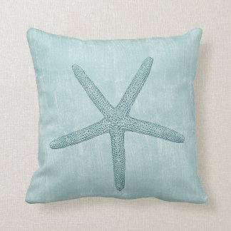 Estrellas de mar azules almohada