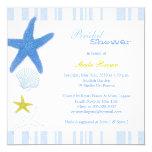 Estrellas de mar azules + Ducha nupcial náutica de Invitación 13,3 Cm X 13,3cm