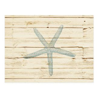 Estrellas de mar azules tarjetas postales