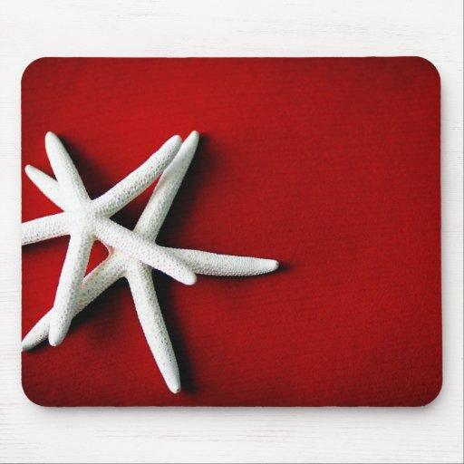 Estrellas de mar blancas Mousepad