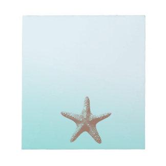 Estrellas de mar bloc de notas