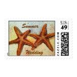 estrellas de mar, boda del verano sello