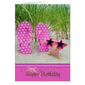 estrellas de mar con los balanceos para el tarjeta de felicitación