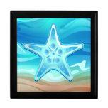 Estrellas de mar de Giftbox Joyero Cuadrado Grande
