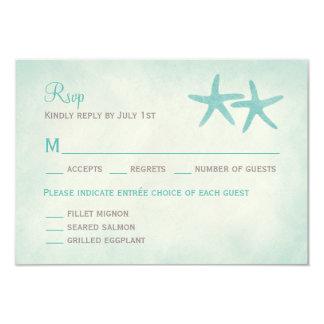 Estrellas de mar de la acuarela que casan la invitación 8,9 x 12,7 cm