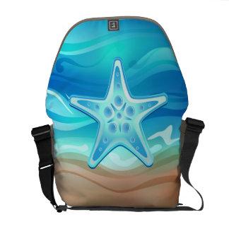 Estrellas de mar de la bolsa de mensajero bolsa de mensajeria