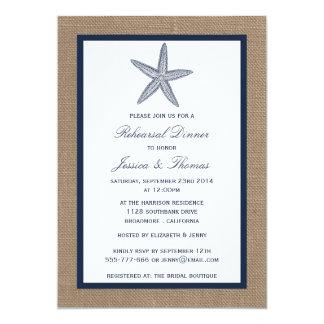 """Estrellas de mar de la marina de guerra en cena invitación 5"""" x 7"""""""