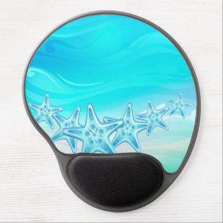 Estrellas de mar de Mousepad del gel Alfombrilla Con Gel