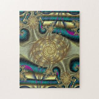 Estrellas de mar de oro del fractal puzzle