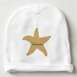 Estrellas de mar del boda de playa de Barefootin Gorrito Para Bebe