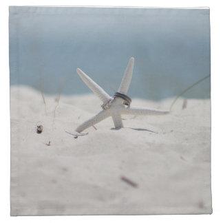 Estrellas de mar del boda de playa servilletas imprimidas