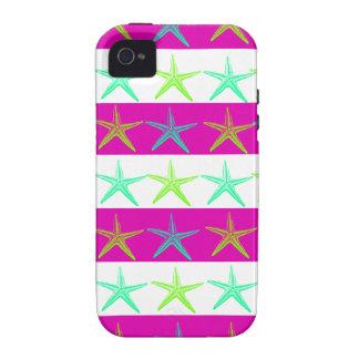 Estrellas de mar del tema de la playa del verano e vibe iPhone 4 fundas