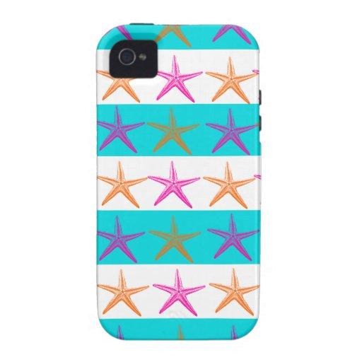 Estrellas de mar del tema de la playa del verano e iPhone 4/4S carcasa