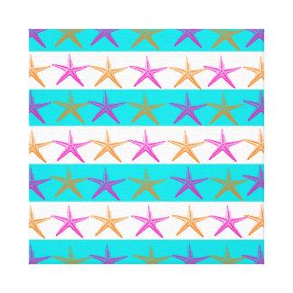 Estrellas de mar del tema de la playa del verano e impresión en lona estirada