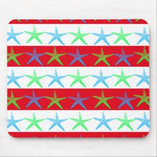 Estrellas de mar del tema de la playa del verano e mouse pad