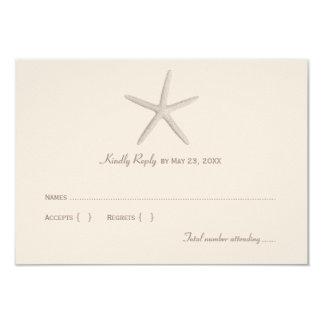 Estrellas de mar el pipe% neutrales de la tarjeta invitación 8,9 x 12,7 cm