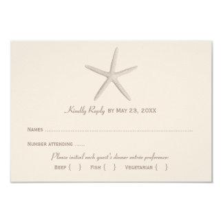 Estrellas de mar el pipe% neutrales de la tarjeta invitación