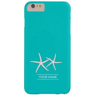 Estrellas de mar elegantes del azul de Tiffany Funda De iPhone 6 Plus Barely There