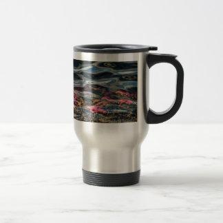 Estrellas de mar en el océano taza de café