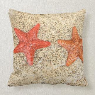 estrellas de mar en la playa, en el borde del océa cojines