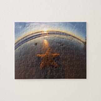 Estrellas de mar en la playa puzzle