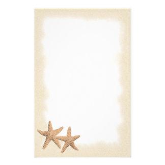 Estrellas de mar en los efectos de escritorio de l personalized stationery